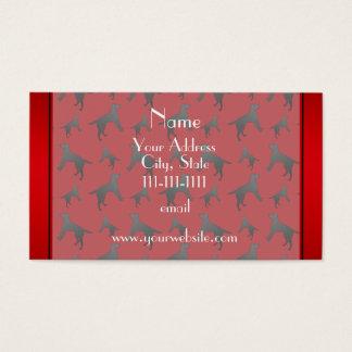 Personalized name red Labrador Retriever dogs Business Card