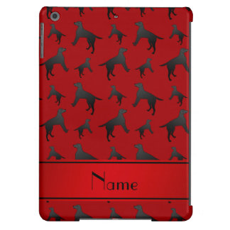 Personalized name red Labrador Retriever dogs iPad Air Case