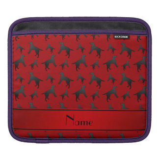 Personalized name red Labrador Retriever dogs iPad Sleeve