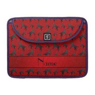 Personalized name red Labrador Retriever dogs Sleeve For MacBook Pro