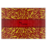 Personalized name red lightning bolts cutting board