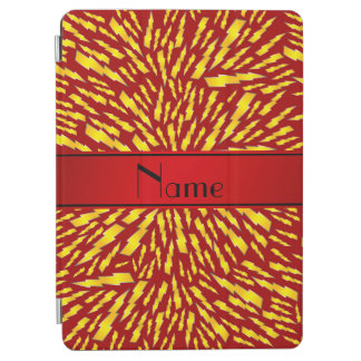 Personalized name red lightning bolts iPad air cover