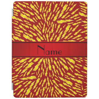 Personalized name red lightning bolts iPad cover