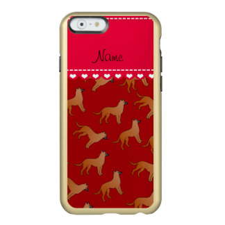 Personalized name red malinois dogs incipio feather shine iPhone 6 case