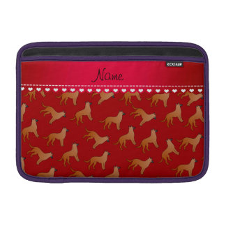 Personalized name red malinois dogs sleeve for MacBook air