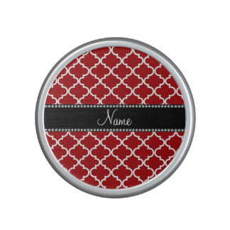 Personalized name Red moroccan Bluetooth Speaker