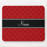 Personalized name Red moroccan Mouse Pad