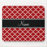 Personalized name Red moroccan Mousepad