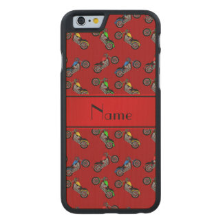 Personalized name red motorcycles carved® maple iPhone 6 case