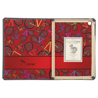 Personalized name red mountain bikes iPad air cover