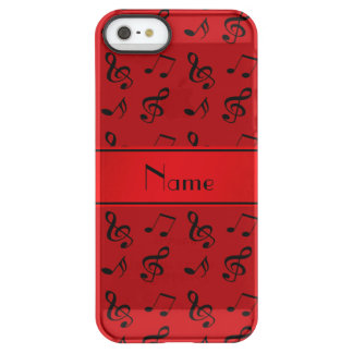 Personalized name red music notes uncommon permafrost® deflector iPhone 5 case