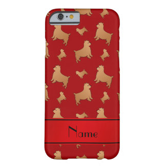 Personalized name red Norwich Terrier dogs Barely There iPhone 6 Case