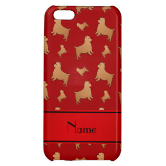Personalized name red Norwich Terrier dogs Case For iPhone 5C