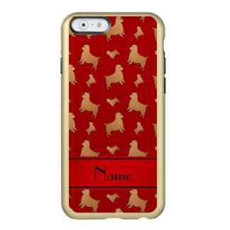 Personalized name red Norwich Terrier dogs Incipio Feather® Shine iPhone 6 Case