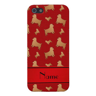 Personalized name red Norwich Terrier dogs iPhone 5 Covers
