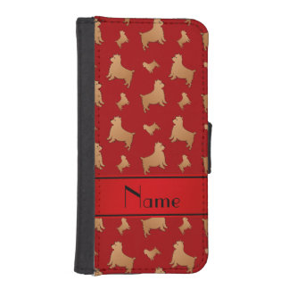Personalized name red Norwich Terrier dogs iPhone 5 Wallet