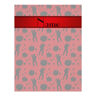 """Personalized name red paintball pattern 8.5"""" x 11"""" flyer"""