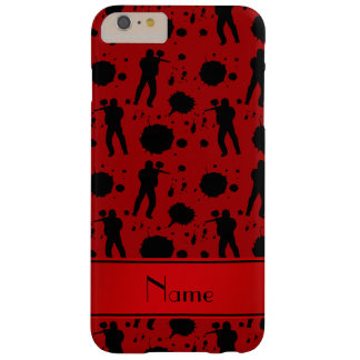 Personalized name red paintball pattern barely there iPhone 6 plus case