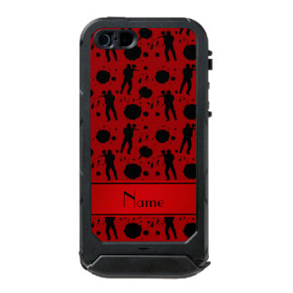 Personalized name red paintball pattern incipio ATLAS ID™ iPhone 5 case