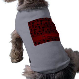 Personalized name red paintball pattern pet clothing