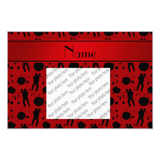 Personalized name red paintball pattern photo print
