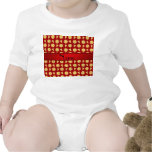 Personalized name red pizzas baby bodysuits