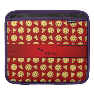 Personalized name red pizzas iPad sleeve