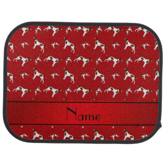 Personalized name red Pointer dogs Car Floor Mat