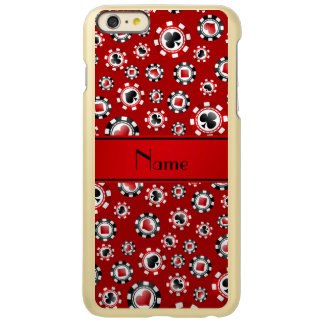 Personalized name red poker chips incipio feather® shine iPhone 6 plus case