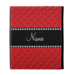 Personalized name red polka dots iPad folio case