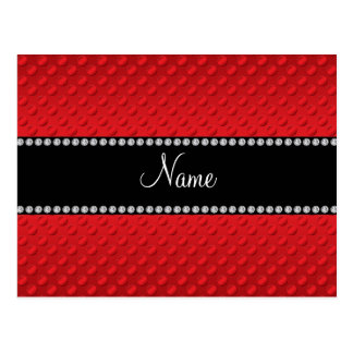 Personalized name red polka dots postcards
