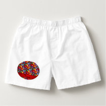 Personalized name red rainbow blue whales boxers