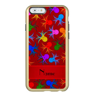 Personalized name red rainbow octopus incipio feather shine iPhone 6 case