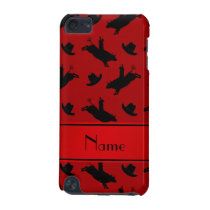 Personalized name red rodeo bull riding pattern iPod touch (5th generation) case
