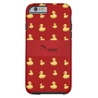 Personalized name red rubber duck pattern tough iPhone 6 case