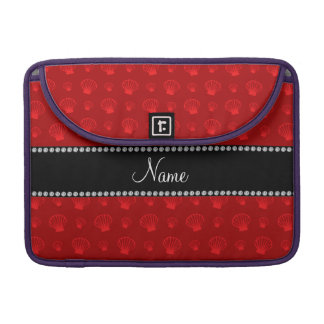 Personalized name red shells sleeves for MacBooks