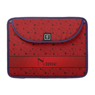 Personalized name red skateboard pattern sleeve for MacBooks