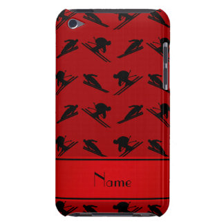 Personalized name red ski pattern barely there iPod covers