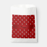 Personalized name red soccer balls favor bags