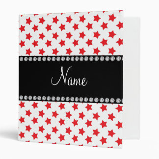 Personalized name Red stars Binder