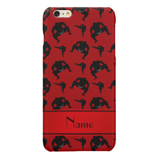 Personalized name red sumo wrestling glossy iPhone 6 plus case