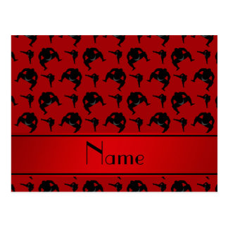 Personalized name red sumo wrestling postcard