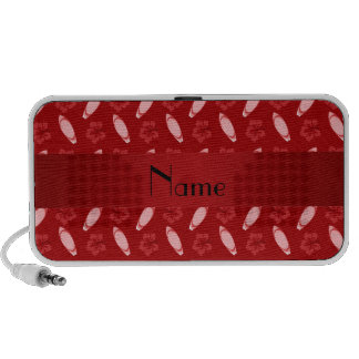 Personalized name red surfboard pattern notebook speakers