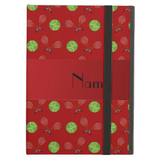Personalized name red tennis balls iPad air case