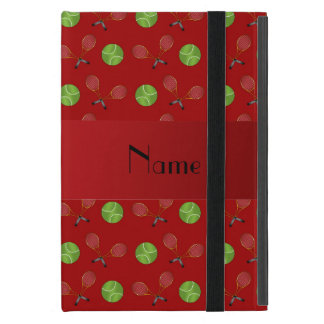 Personalized name red tennis balls iPad mini covers