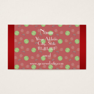 Personalized name red tennis balls rackets business card