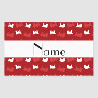 Personalized name red train pattern sticker