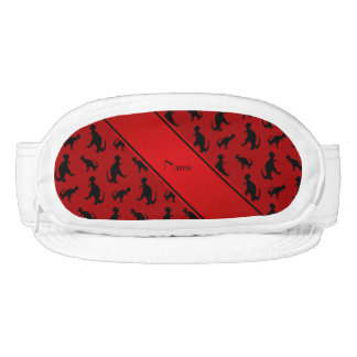 Personalized name red trex dinosaurs visor