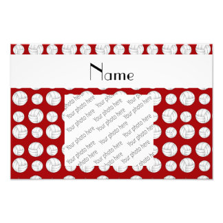 Personalized name red volleyball balls photograph