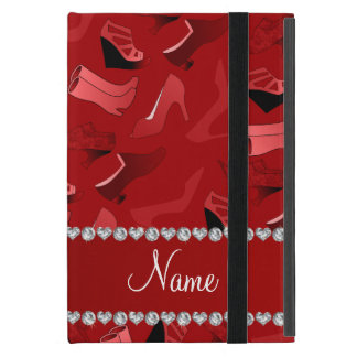 Personalized name red women's shoes pattern iPad mini case